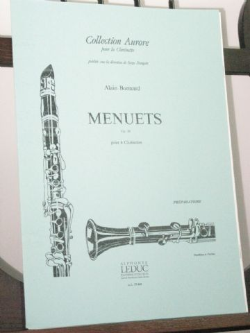 Bonnard A - Menuets Op 20 for 4 Clarinets